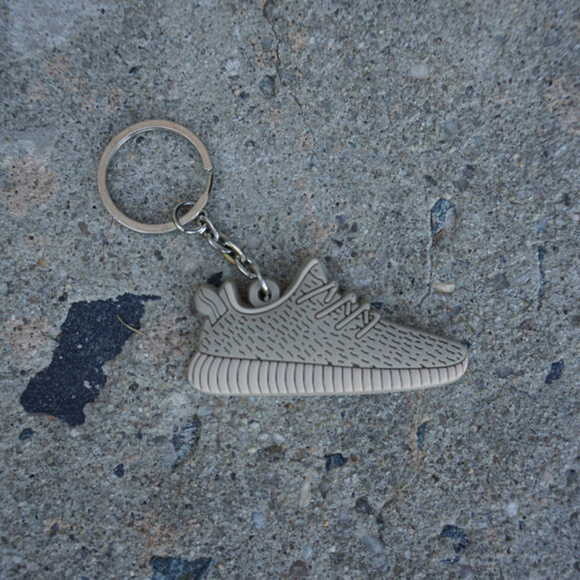 Flat Silicon Sneaker Keychain Adidas Ultra Boost Black